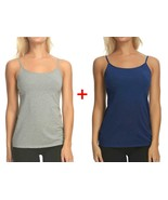 Maidenform 2- Pack Cotton Stretch Camisole (SMALL, NAVY/GREY) - $12.86