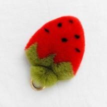 Female Strawberry Key Ring Rex Rabbit Fur Handmade Fashion Car Chain Acc... - $9.33
