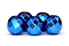 100/50 Pcs - 4MM Blue Hematite Beads Grade AAA Faceted Round Natural Gem... - $7.11