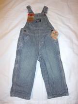 Boy OshKosh Latzhose stripe overall conductor bib Jeans 3 6 9 12 24 Mont... - $26.59