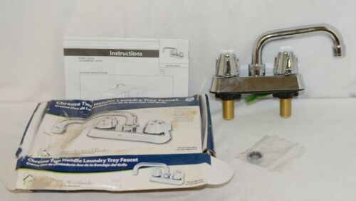 Homewerks Worldwide 16U42WNCHB Chrome Two Handle Laundry Tray Faucet
