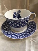 Vintage Spode  Blue Italian Geranium Cup And Saucer - $26.99