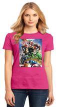 Captain America Hawkeye Thor Hulk Iron Man Black Widow Ladies Crew T Size XS-4XL - $19.99+