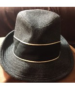 American Eagle Outfitters Gray Wool Black Band  Fedora Unisex Adult Size... - $14.84