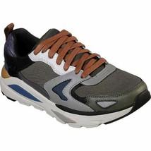 Skechers Relaxed Fit Verrado Brogen Men's Sneakers Grey Olive - $62.99