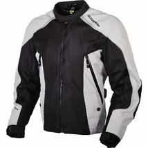 Scorpion EXO Velocity Textile Motorcycle Jacket Black Silver XL  Mens 14... - $191.56