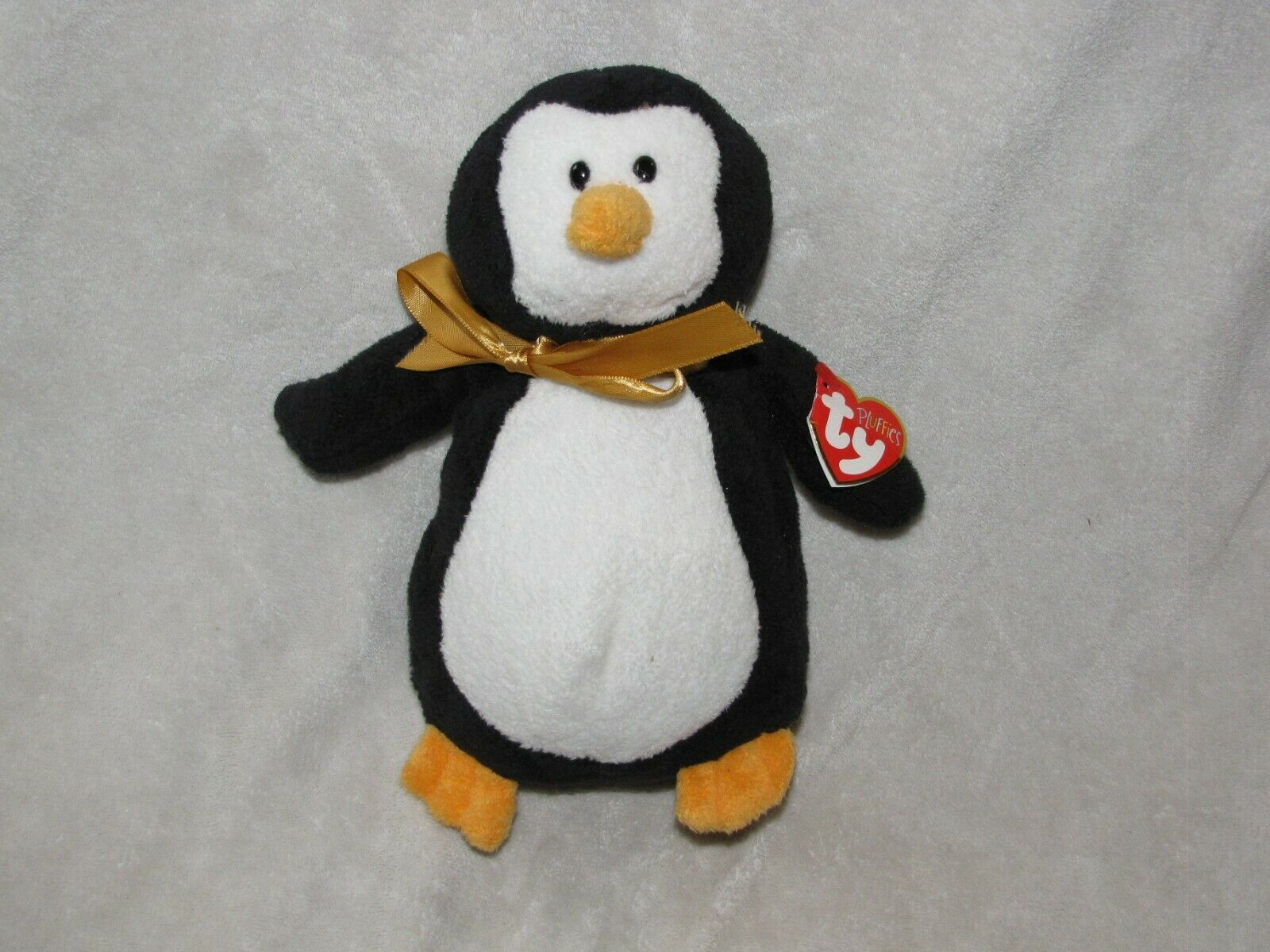 "Primary image for Ty Pluffies Waddles Penguin Plush 9"" 2006 Stuffed Animal Black White Plastic Eye"