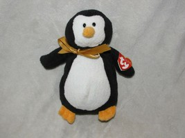"Ty Pluffies Waddles Penguin Plush 9"" 2006 Stuffed Animal Black White Pla... - $59.39"