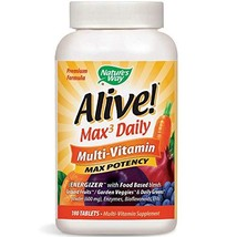 Nature's Way Alive! Max3 Daily Adult Multivitamin, Food-Based Blends 1, 060mgper