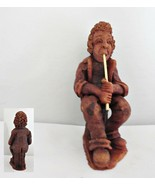 Flute Playing Red Clay Musician Figurine - $18.69