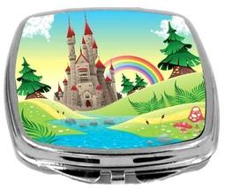 Rikki Knight Panorama Castle Rainbow Compact Mirror Castle Rainbow Design NEW - $12.00