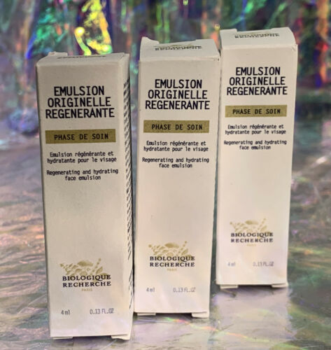 3x New In Box Biologique Recherche EMULSION ORIGINELLE REGENERANTE 4mL (=12mL)
