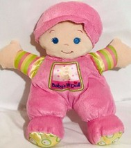 Fisher Price FP Babys 1st First Doll Pink Soft Plush Rattle Blonde Blue ... - $16.90