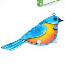 Metal & Glass Bluebird Blue Bird Hanging Suncatcher Ornament image 3