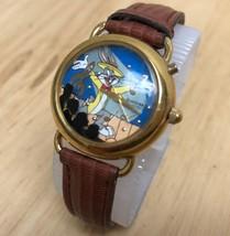 Vintage Armitron Musical Bugs Bunny Lady Gold Tone Quartz Watch Hour~New... - $21.36