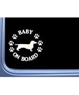 """Baby on Board Dachshund Smooth L511 6"""" Sticker dog decal - $4.00"""