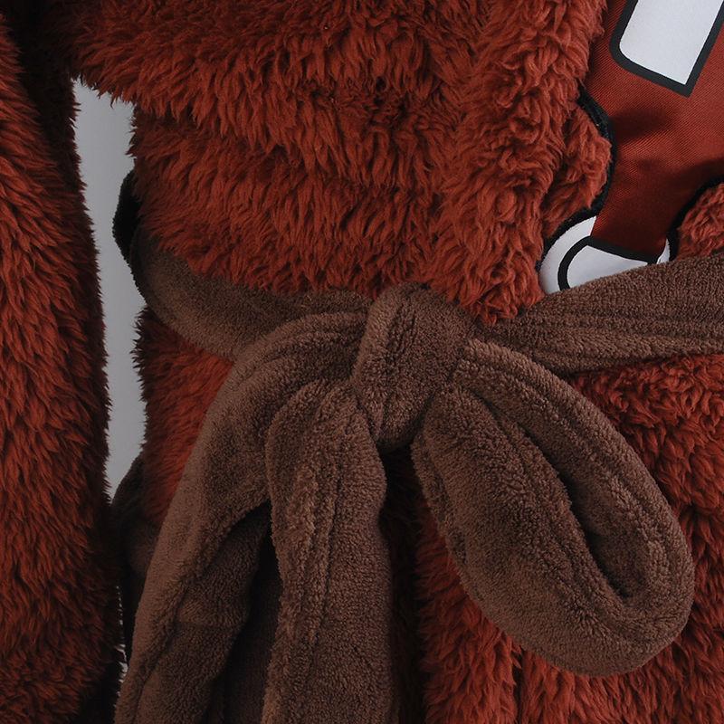 Star Wars Bath Robe Bathrobe Cloak Mantle Cosplay Costume Chewbacca Hooded Cape
