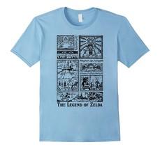 New Tee - Nintendo Zelda The Legend Lives In Tonal Glyphs T-Shirt Men - $19.95+