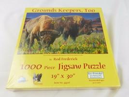 Barre Federico Grounds Custodi 1000 Pz Puzzle Bufalo Animale - $21.72