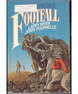 Footfall by Jerry Pournelle and Larry Niven 1986 Hardback Aliens Elephants - $4.45