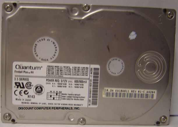 "18GB IDE 3.5"" QUANTUM KA18A011 Hard Drive Tested Free USA Ship Our Drives Work"