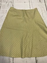 Ann Taylor Women's Skirt Celery Green Silk Blend Skirt Size 8 - $17.82
