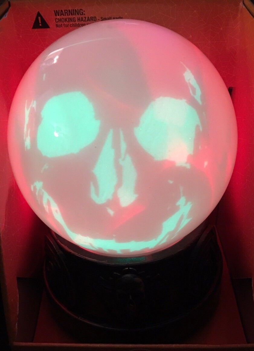 Halloween Talking Color Changing Ghostly Crystal Ball - $39.99