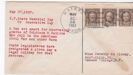 NEW YORK STATE MEMORIAL DAY - DECORATION DAY DAISY, WASH MAY 31 1937  - $1.98