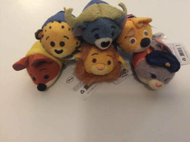 "Disney TSUM TSUM Zootopia 3.5"" Mini Plush Lot 6 ct Nick Judy Lionheart - $19.79"