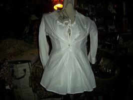 Anthropologie Edme & Esyllte Romantic Porcelain White Blouse Size 2 - $17.82