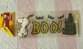 EK Success Peanuts Snoopy Boo Haunted House Spooky Halloween Scrapbook Stickers - $6.99