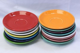 Fiesta Saucers Lot of 15 Red Orange Blue White Yellow  - $39.19