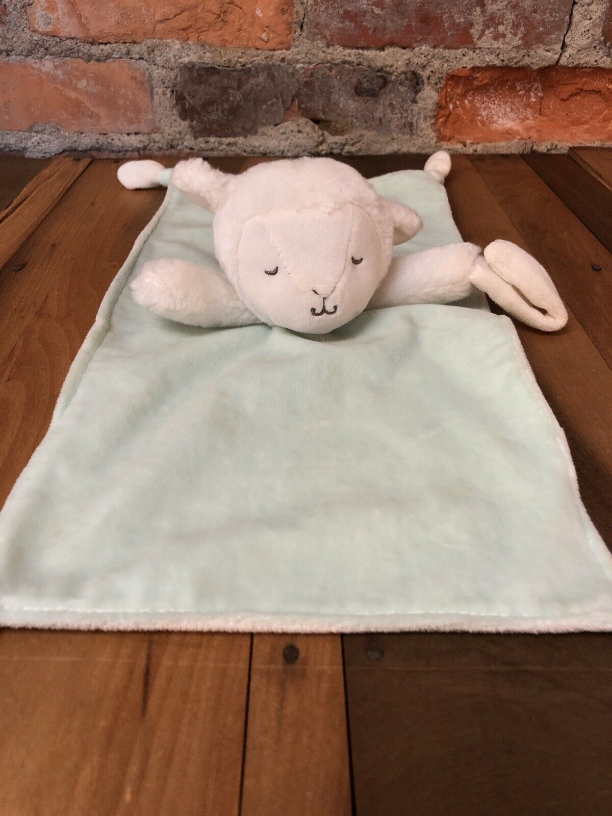 Carters Lamb Lovey Plush Security Blanket Baby Pacifier