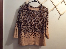 Talbots 3/4 Sleeve Cheeta Print Top Size Mp & S (Pick a Size) - $5.99