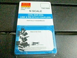 Micro-Trains Stock # 00102060 (2006) Civil War Era Link & Pin Style Couplers (N) image 1