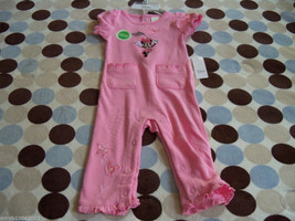 Disney's Minnie Mouse Pink Romper Size 3-6 months Girl's NEW HTF - $24.00