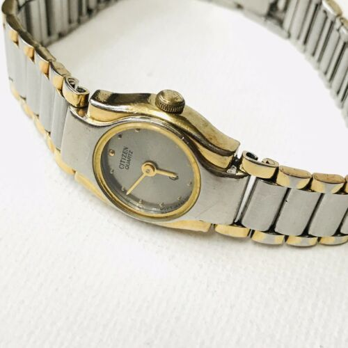 "Vintage Citizen Elegant Two Tone 6"" MAX Ladies Watch 3220-S09826 Works GREAT!! image 2"