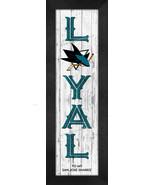 "San Jose Sharks ""Proud and Loyal"" - 8 x 24  Wood-Textured Look Framed Pr... - $39.95"
