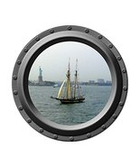 Statue of Liberty - Porthole Wall Decal - £10.20 GBP
