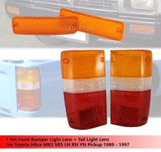 Front Bumper Light Lens + Tail Light Lens For Toyota Hilux MK3 SR5 LN RN YN - $26.49