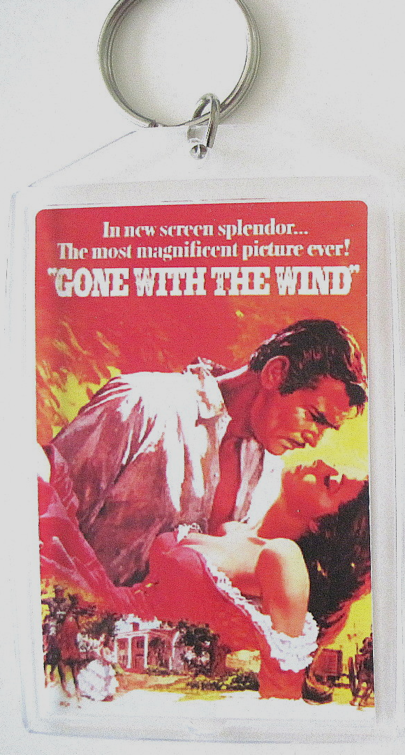 Gone with the wind keychain poster double sided
