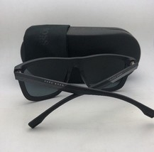 New HUGO BOSS Carbon Fiber Sunglasses 0824/S YZ2RC Black Aviator+Green Polarized