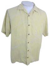 Tommy Bahama Men Hawaiian camp shirt p2p 23 aloha luau tropical silk jacquard - $24.74