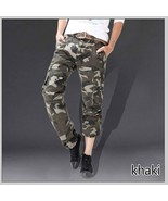 New Fashion Mens Military Cargo Pants for Men More Pockets Zipper Trouse... - $40.80