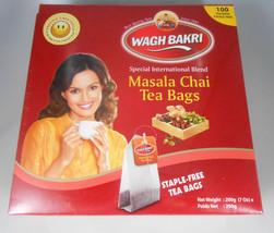 Wagh Bakri Waghbakri Masala Chai 100 Tea Bags Net Wt: 200gm Usa Seller Fast Ship - $10.00
