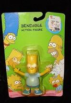 The Simpsons  Bendable Figure Bendy New Jesco 1990 Bart Simpson pack tears - $16.99