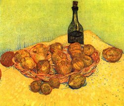 The Museum Outlet - Still Life with Bottle, Lemons and Oranges by Van Go... - $147.51