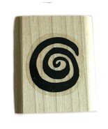 Rubber Wood Stamp Stamping Crafting Stampin Up Spiral Swirl - $9.89