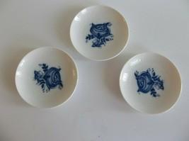 Rosenthal Bjorn Wiinblad Studio Line Blue White Dishes Coasters Salt Wil... - $19.99