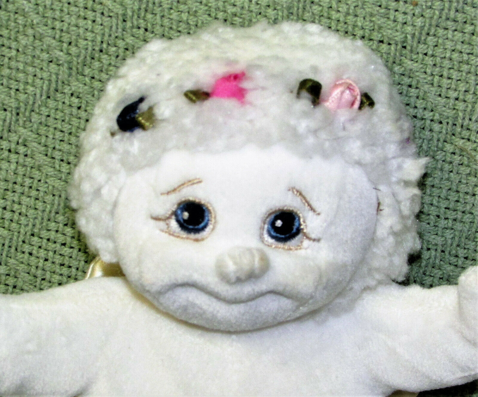 1999 DREAMSICLES ANGEL HUGS BEANBAG VINTAGE STUFFED ANIMAL PLUSH DOLL SATIN WING image 2